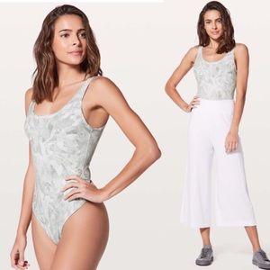 Lululemon Arise Nulu Bodysuit Jasmine White sz 8